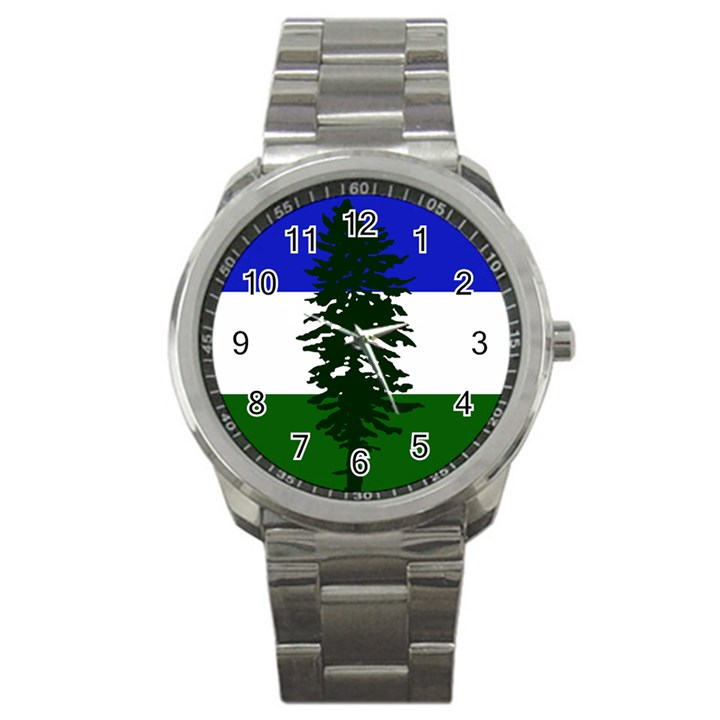 Flag of Cascadia Sport Metal Watch