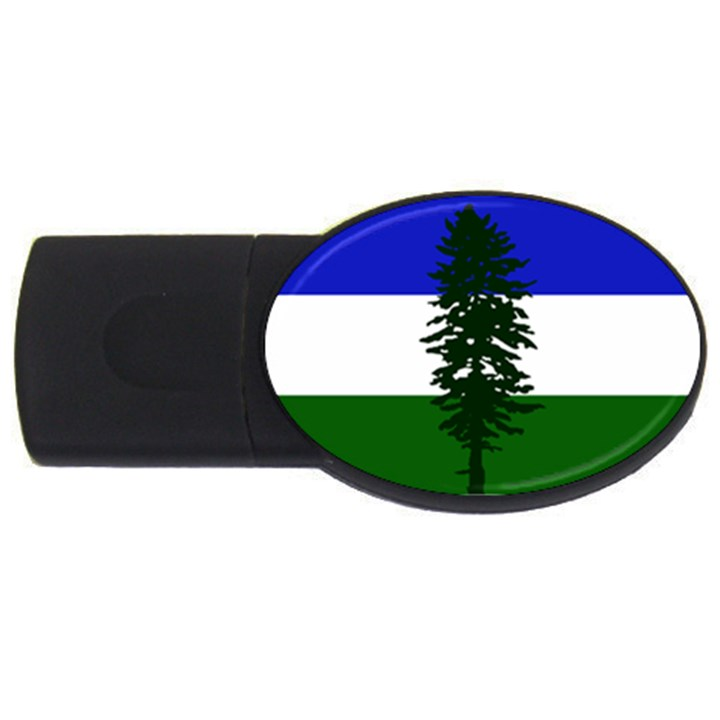 Flag of Cascadia USB Flash Drive Oval (4 GB)