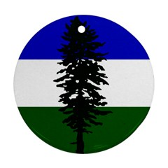 Flag Of Cascadia Round Ornament (two Sides) by abbeyz71