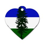 Flag of Cascadia Dog Tag Heart (Two Sides) Back