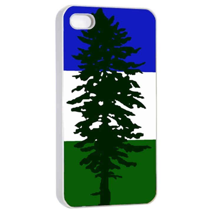Flag of Cascadia Apple iPhone 4/4s Seamless Case (White)