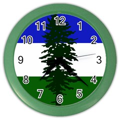 Flag Of Cascadia Color Wall Clocks by abbeyz71