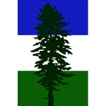 Flag of Cascadia 5.5  x 8.5  Notebooks Back Cover