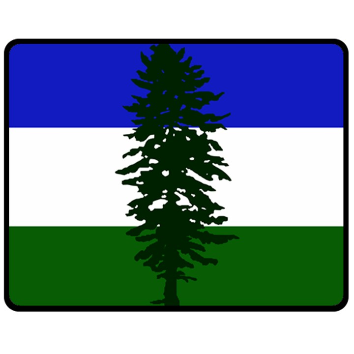 Flag of Cascadia Fleece Blanket (Medium)