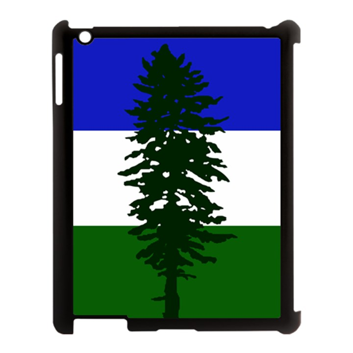 Flag of Cascadia Apple iPad 3/4 Case (Black)