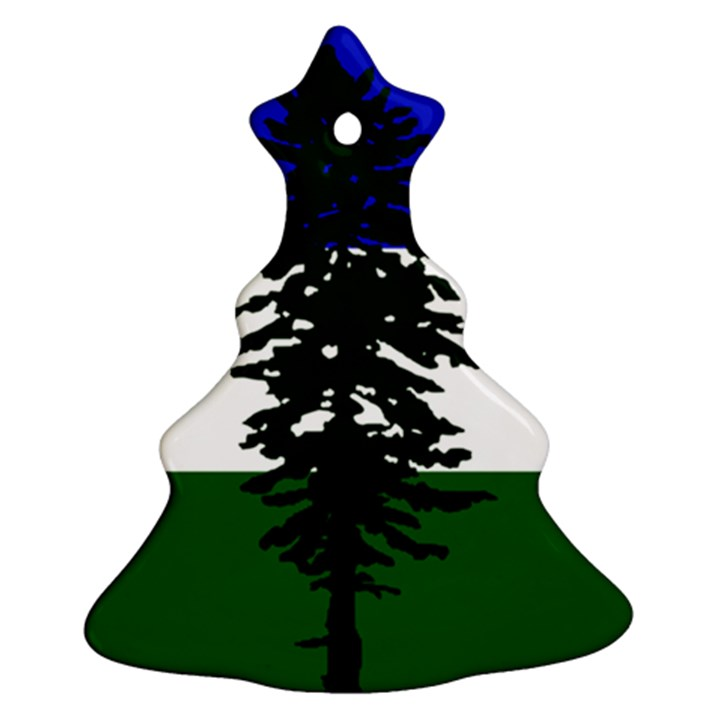 Flag of Cascadia Ornament (Christmas Tree)