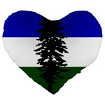 Flag of Cascadia Large 19  Premium Heart Shape Cushions Front