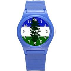 Flag Of Cascadia Round Plastic Sport Watch (s) by abbeyz71