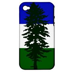 Flag Of Cascadia Apple Iphone 4/4s Hardshell Case (pc+silicone) by abbeyz71
