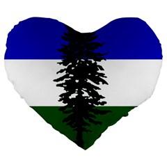 Flag Of Cascadia Large 19  Premium Heart Shape Cushions