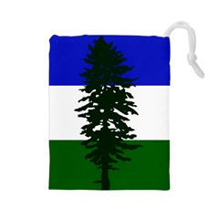 Flag Of Cascadia Drawstring Pouches (large)  by abbeyz71