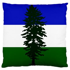 Flag Of Cascadia Large Flano Cushion Case (one Side) by abbeyz71
