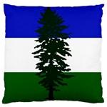 Flag of Cascadia Large Flano Cushion Case (Two Sides) Back
