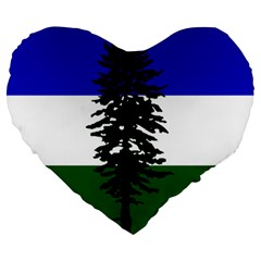 Flag Of Cascadia Large 19  Premium Flano Heart Shape Cushions by abbeyz71