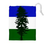Flag of Cascadia Drawstring Pouches (Extra Large) Front