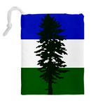 Flag of Cascadia Drawstring Pouches (Extra Large) Back