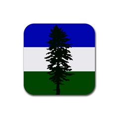 Flag Of Cascadia Rubber Square Coaster (4 Pack)