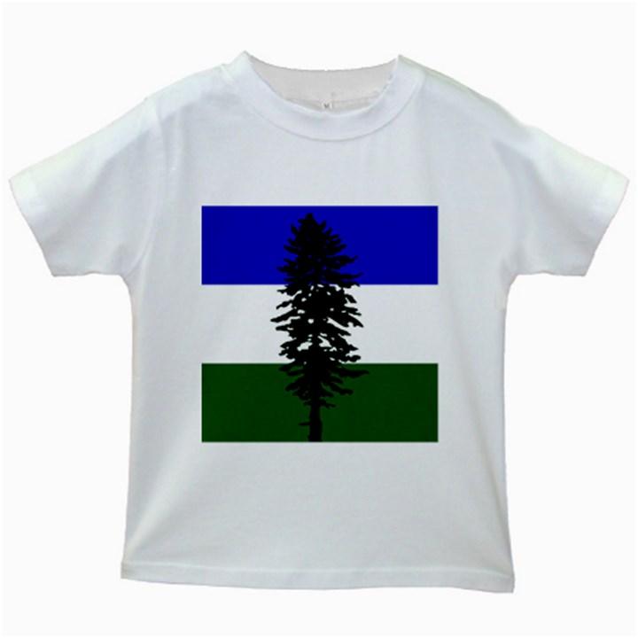 Flag of Cascadia Kids White T-Shirts
