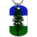 Flag of Cascadia Dog Tag (Two Sides) Front