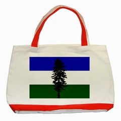 Flag Of Cascadia Classic Tote Bag (red) by abbeyz71