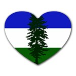 Flag of Cascadia Heart Mousepads Front