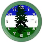 Flag of Cascadia Color Wall Clocks Front