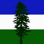 Flag of Cascadia Storage Stool 12   Left