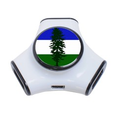Flag Of Cascadia 3 Port Usb Hub by abbeyz71