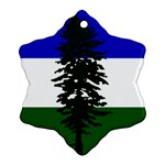 Flag of Cascadia Snowflake Ornament (Two Sides) Front