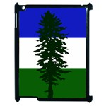 Flag of Cascadia Apple iPad 2 Case (Black) Front