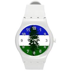 Flag Of Cascadia Round Plastic Sport Watch (m) by abbeyz71