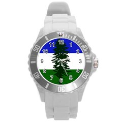 Flag Of Cascadia Round Plastic Sport Watch (l) by abbeyz71