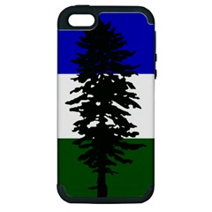 Flag Of Cascadia Apple Iphone 5 Hardshell Case (pc+silicone) by abbeyz71