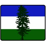 Flag of Cascadia Double Sided Fleece Blanket (Medium)  58.8 x47.4 Blanket Front