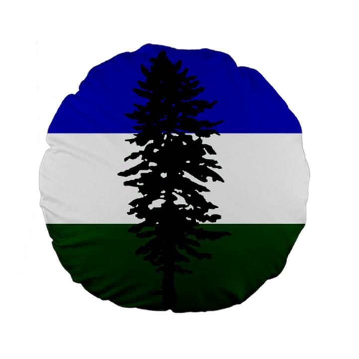 Flag of Cascadia Standard 15  Premium Flano Round Cushions