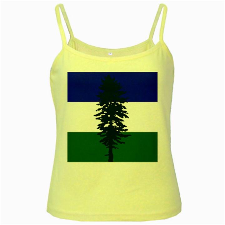 Flag of Cascadia Yellow Spaghetti Tank
