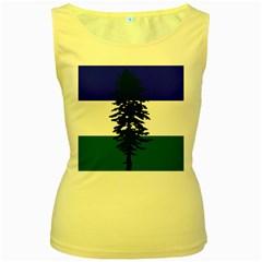 Flag Of Cascadia Women s Yellow Tank Top by abbeyz71