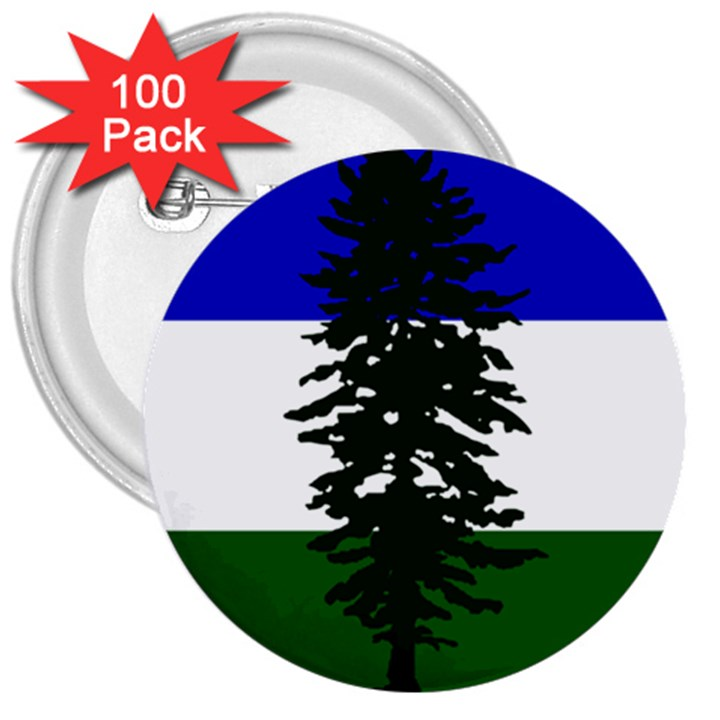 Flag of Cascadia 3  Buttons (100 pack)