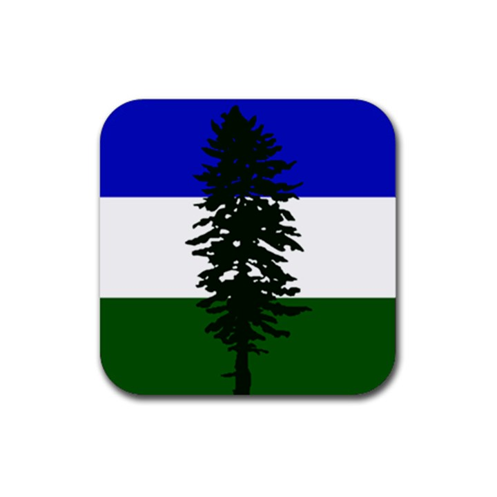 Flag of Cascadia Rubber Coaster (Square)