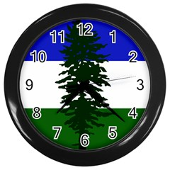 Flag Of Cascadia Wall Clocks (black) by abbeyz71