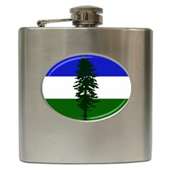 Flag Of Cascadia Hip Flask (6 Oz) by abbeyz71