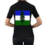 Flag of Cascadia Women s T-Shirt (Black) (Two Sided) Back