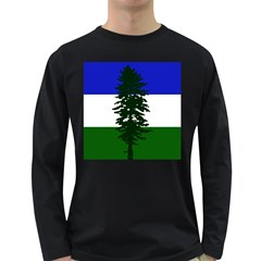 Flag Of Cascadia Long Sleeve Dark T Shirts
