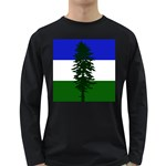 Flag of Cascadia Long Sleeve Dark T-Shirts Front