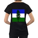 Flag of Cascadia Women s Loose-Fit T-Shirt (Black) Back