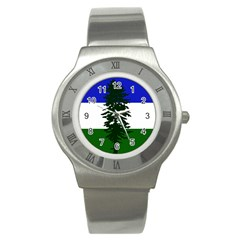 Flag Of Cascadia Stainless Steel Watch