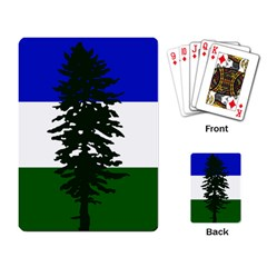 Flag Of Cascadia Playing Card by abbeyz71