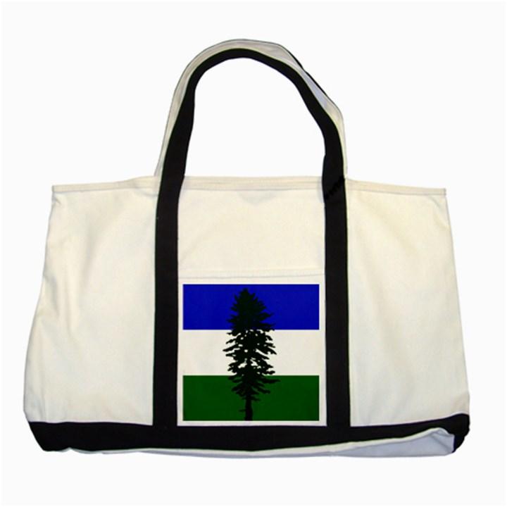 Flag of Cascadia Two Tone Tote Bag