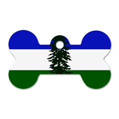 Flag Of Cascadia Dog Tag Bone (one Side) by abbeyz71