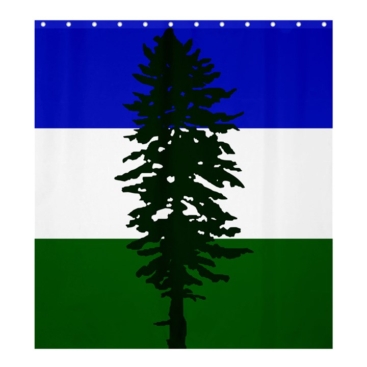 Flag of Cascadia Shower Curtain 66  x 72  (Large)